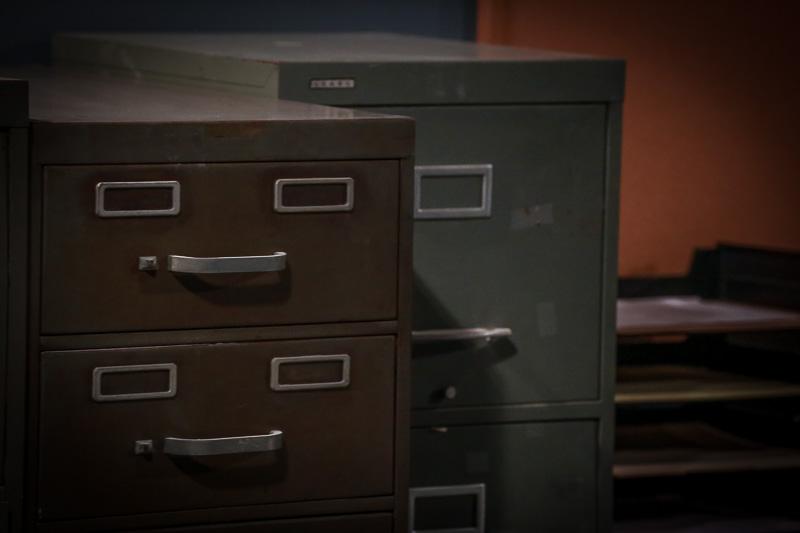 detectives office set