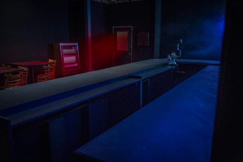dive bar standing set in la
