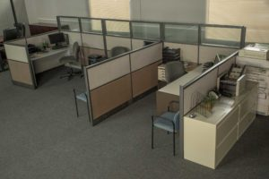 office standing set in los angeles