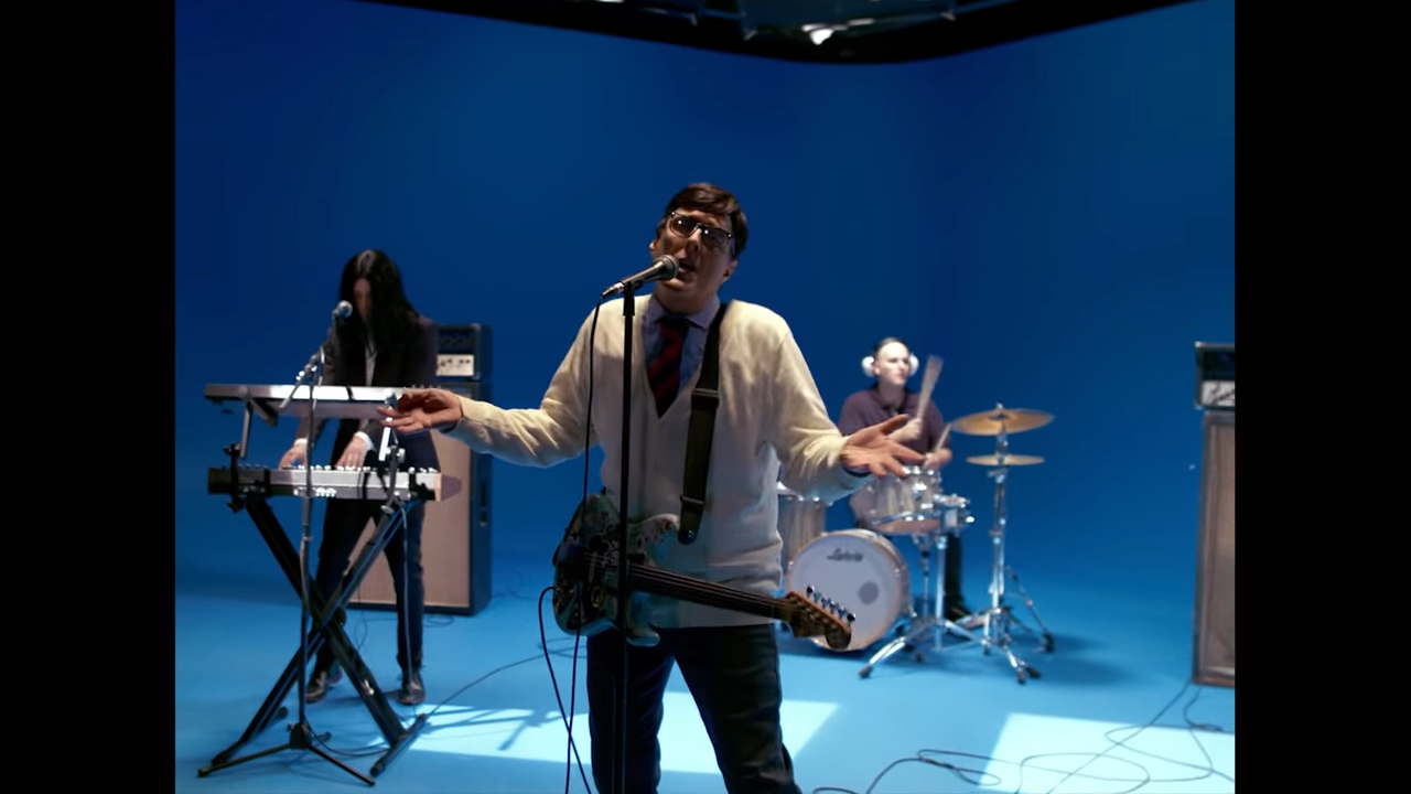 weezer music video green screen studio