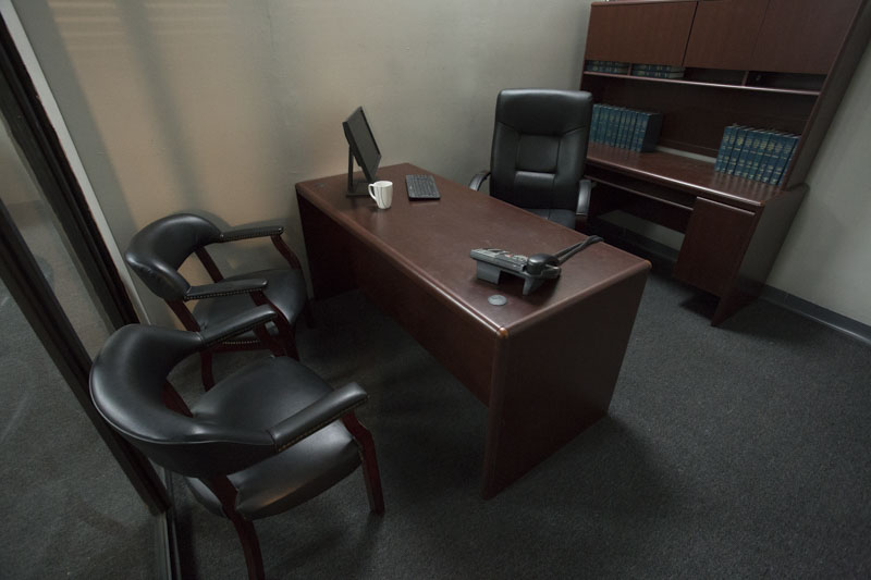office set for filming in los angeles