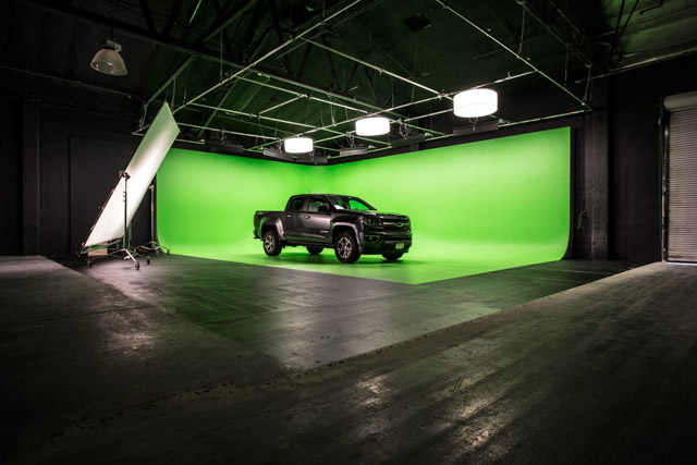 green screen stage for filming